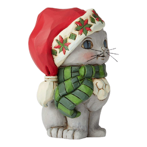 "Heartwood Creek By Jim Shore - 9cm/3.5"" Mini Kitten with Christmas Hat *CHRISTMAS SPECIAL! WAS $45, NOW $32*"
