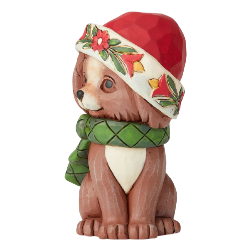 "Heartwood Creek By Jim Shore - 9cm/3.5"" Mini Christmas Puppy *CHRISTMAS SPECIAL! WAS $45, NOW $32*"
