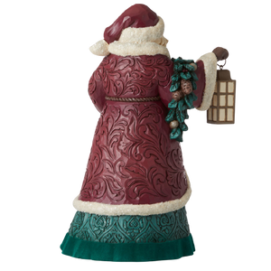 "Heartwood Creek By Jim Shore - 26.7cm/10.5"" Santa with Garland *CHRISTMAS SPECIAL! WAS $180, NOW $126*"