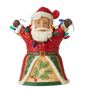 "Heartwood Creek By Jim Shore - 12.7cm/5"" Pint Sized Santa With Lights *CHRISTMAS SPECIAL! WAS $68, NOW $47*"