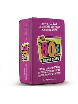 THE 80'S TRIVIA TIN GAME