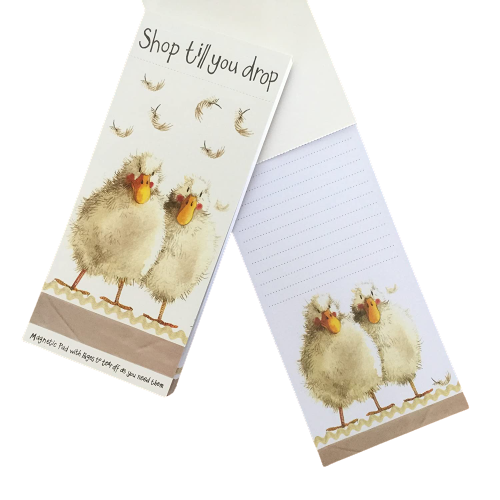 Alex Clark | Shop Till You Drop Ducks Magnetic Notepad