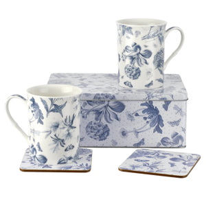 Portmeirion Blue Botanicals 5 Piece Tin Set - Hansel and Gretel Coffee House