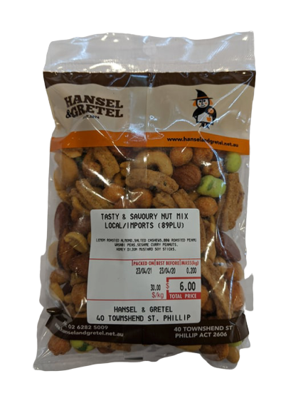Tasty & Savoury Nut Mix, 200g - Hansel and Gretel Coffee House