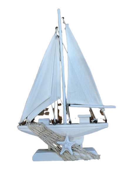 Sailboat Ornament - White - Hansel and Gretel Coffee House