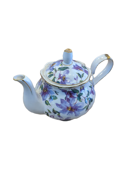 Royal Devonshire Teapot Purple Flower - Hansel and Gretel Coffee House