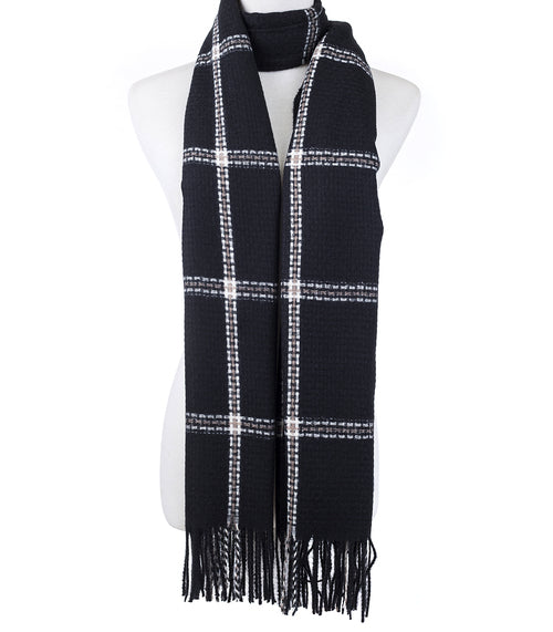 Black and White Scarf - Hansel and Gretel Coffee House