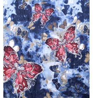 Blue Butterfly Scarf - Hansel and Gretel Coffee House