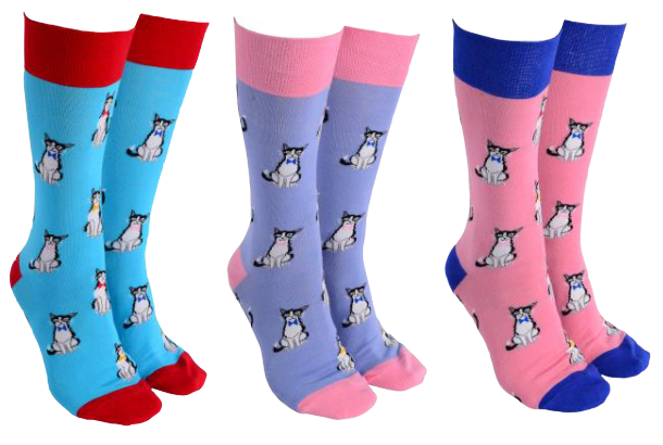 Sock Society -  Bow Tie Cats Socks - Hansel and Gretel Coffee House