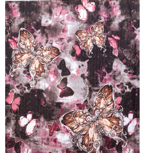 Brown Butterfly Scarf - Hansel and Gretel Coffee House