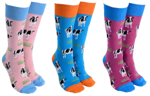 Sock Society -  Cow Socks - Hansel and Gretel Coffee House