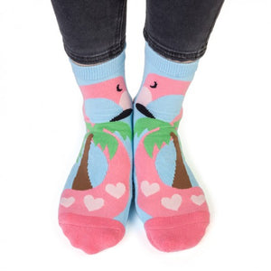 Flamingo Feet Speak Socks - Hansel and Gretel Coffee House