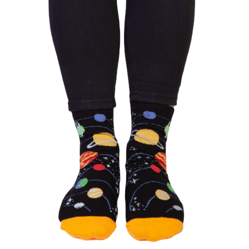 Planetary Feet Speak Socks