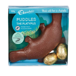 Chocolatier Australia | Milk Chocolate Puddles the Platypus & Eggs - 190g