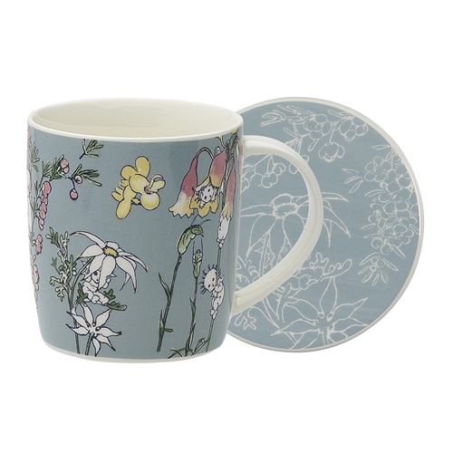 Ecology Mug & Coaster Set Flower Babies Meadow - By May Gibbs 320ml