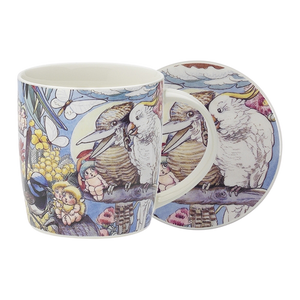 Ecology Mug & Coaster Set Bush Tales 320ml - Hansel and Gretel Coffee House