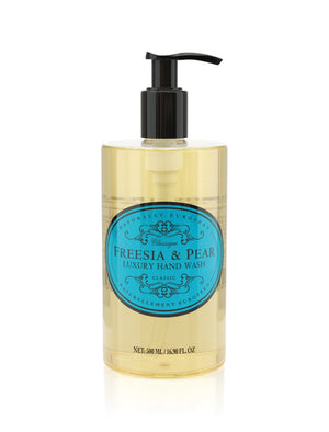 NATURALLY EUROPEAN HAND WASH PUMP -  FREESIA & PEAR - 500ml - Hansel and Gretel Coffee House