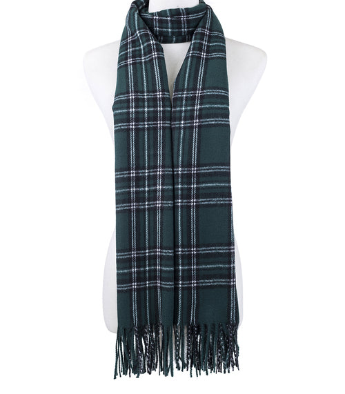 Green Check Scarf - Hansel and Gretel Coffee House