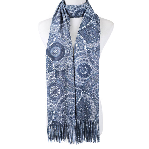Grey Patterned Scarf - Hansel and Gretel Coffee House
