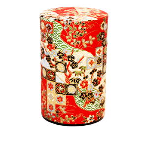 Tea Canister | Seikaiha Red 150g