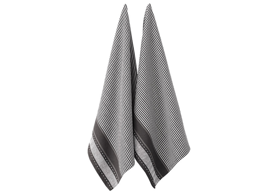 Mason Jumbo Charcoal 2pk Kitchen Towel