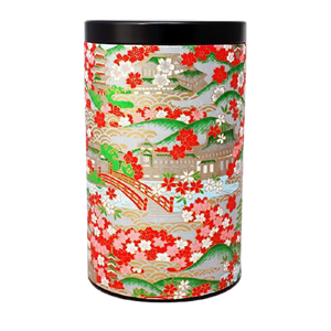 Japanese Serene (Black Lid) Tea Container 400g