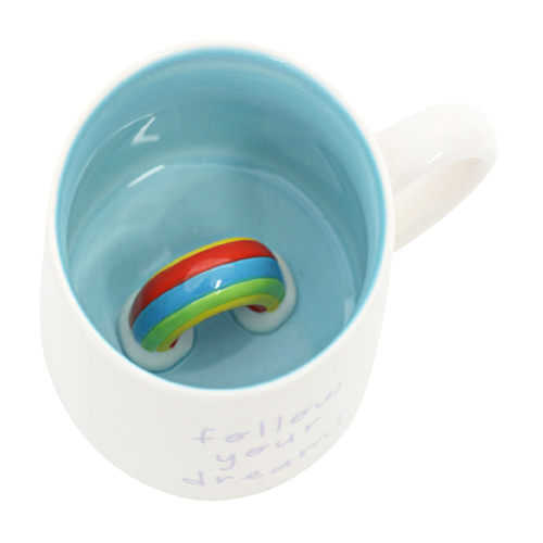 Rainbow Colourful Peekaboo Mug
