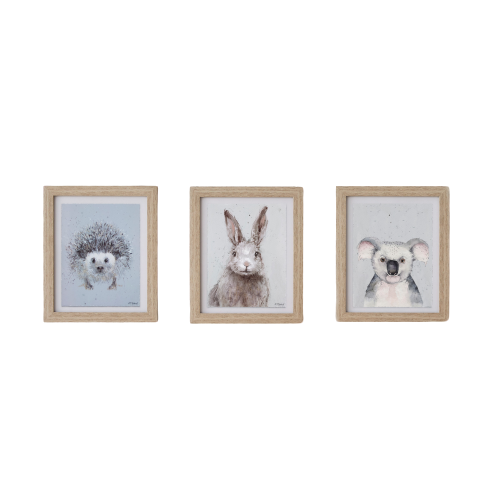 Kid's Framed Wall Art | Small Animal | Set of 3 - Hansel and Gretel Coffee House