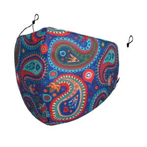 Maskit Reusable Face Mask - Blue Paisley