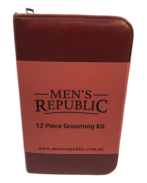 Men's Republic - Men's Grooming Kit - 12 Pieces in Zipper Bag - Hansel and Gretel Coffee House