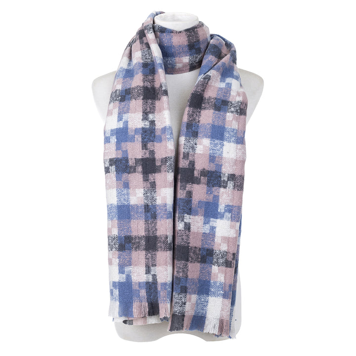 Mauve Check Scarf - Hansel and Gretel Coffee House