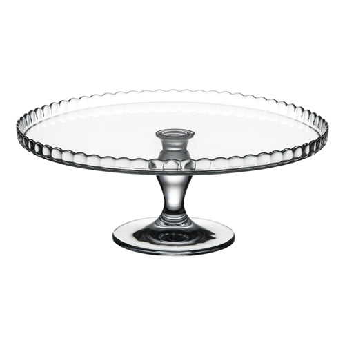 Pasabahce Patisserie Cake Stand 32cm Scallop Pattern Up