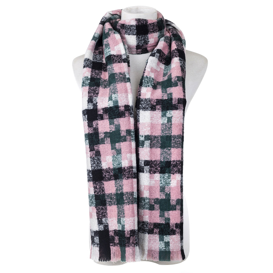 Pink and Black Scarf - Hansel and Gretel Coffee House
