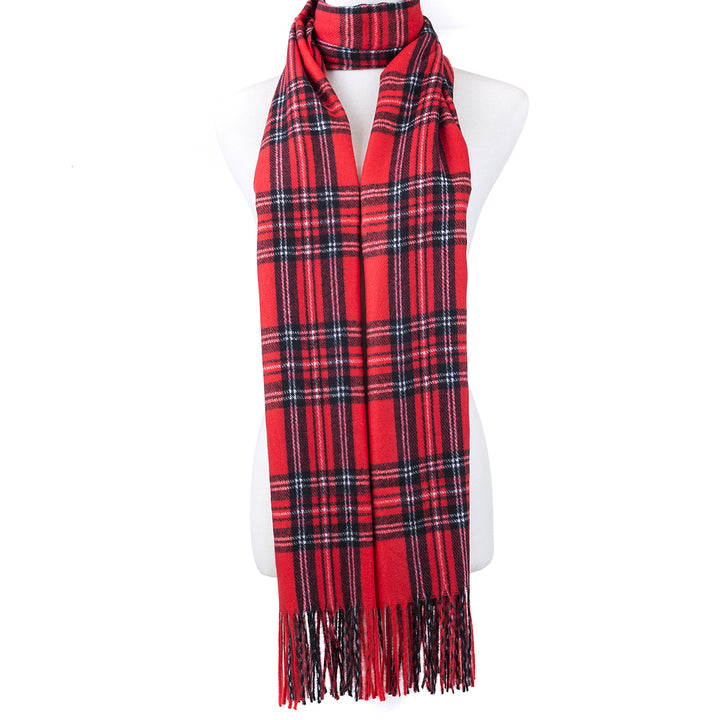 Red Check Scarf - Hansel and Gretel Coffee House
