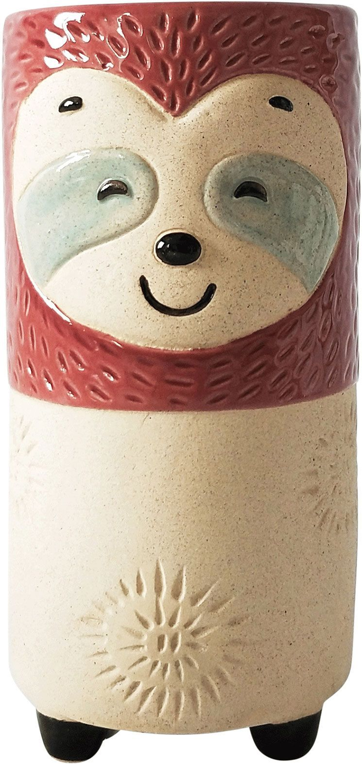 Sloth Vase Berry Sand Med 18cm - Hansel and Gretel Coffee House