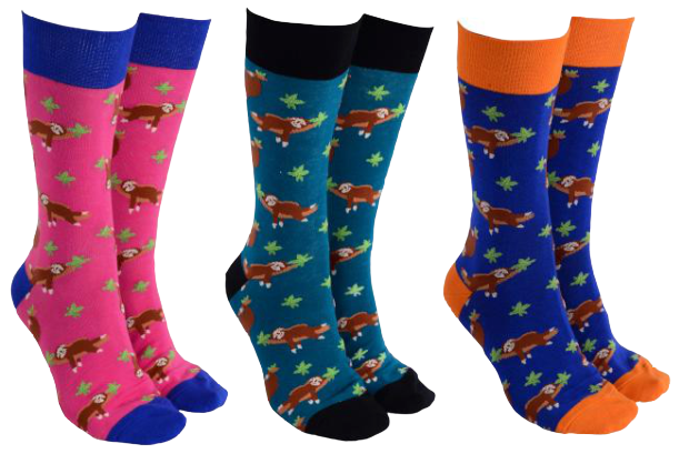 Sock Society -  Sloth Socks - Hansel and Gretel Coffee House