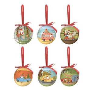 La La Land- Travelling Santa Bauble Set
