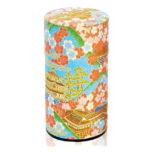 JAPANESE TEA CANISTER - Temple Blue 200g