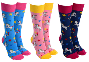 Sock Society - Unicorn with Star Socks - Hansel and Gretel Coffee House