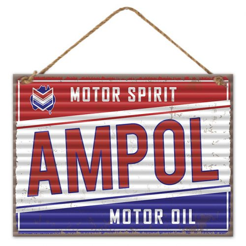 Garage Signs | Ampol Motor Spirit Sign (30cm x 40cm)