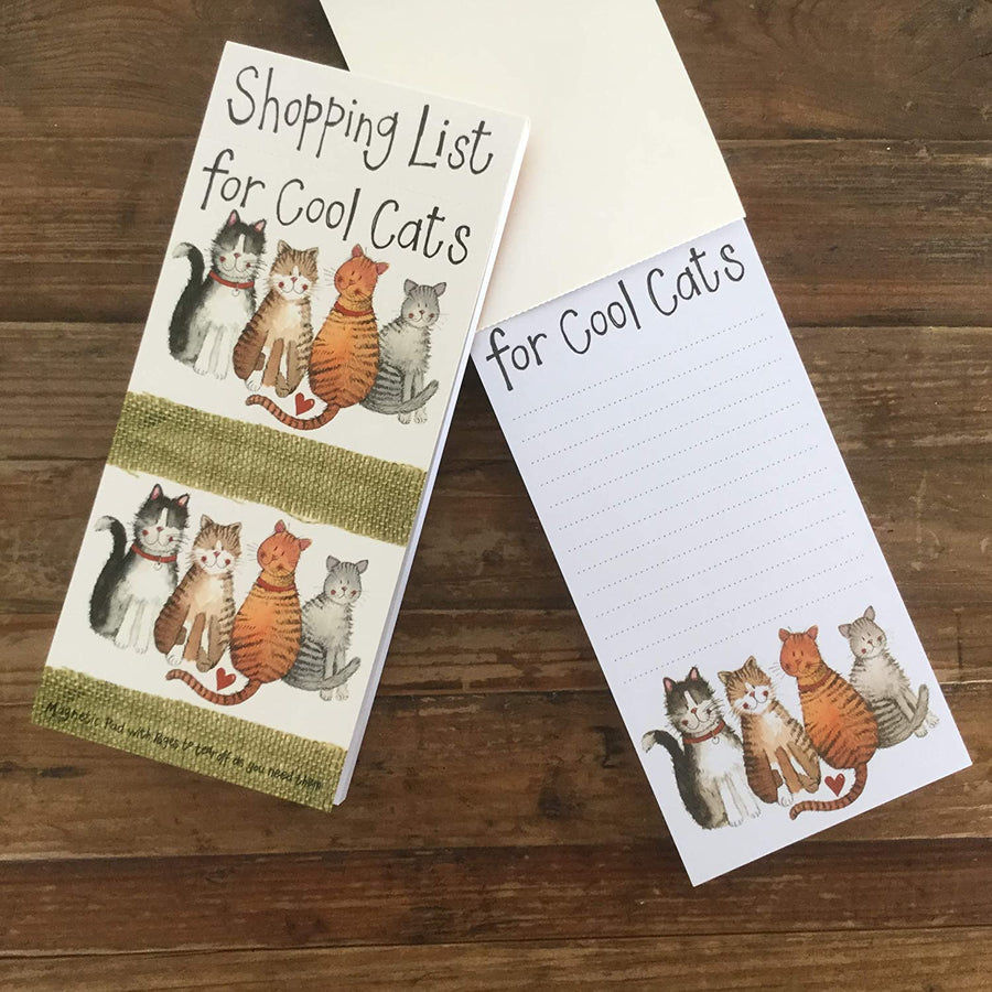 Alex Clark | Cool Cats Magnetic to Do List, 100 Sheets