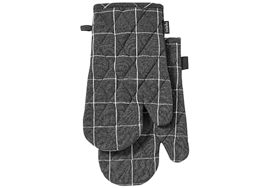 Eco Check Charcoal 2pk Oven Mitt