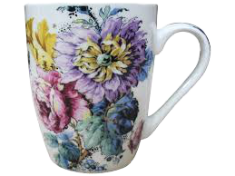 Floral Mugs - Hansel and Gretel Coffee House