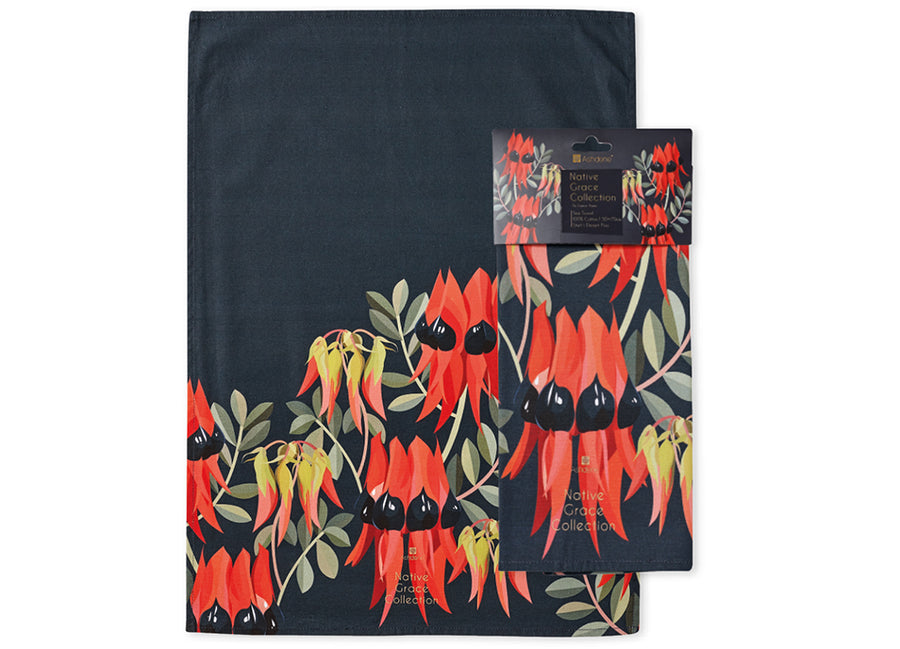 Native Grace Sturts Desert Pea Kitchen Towel