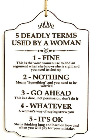 Signs - Deadly Terms