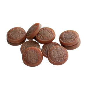 Dutch Liquorice - Brown Coins, 200g - Hansel and Gretel Coffee House