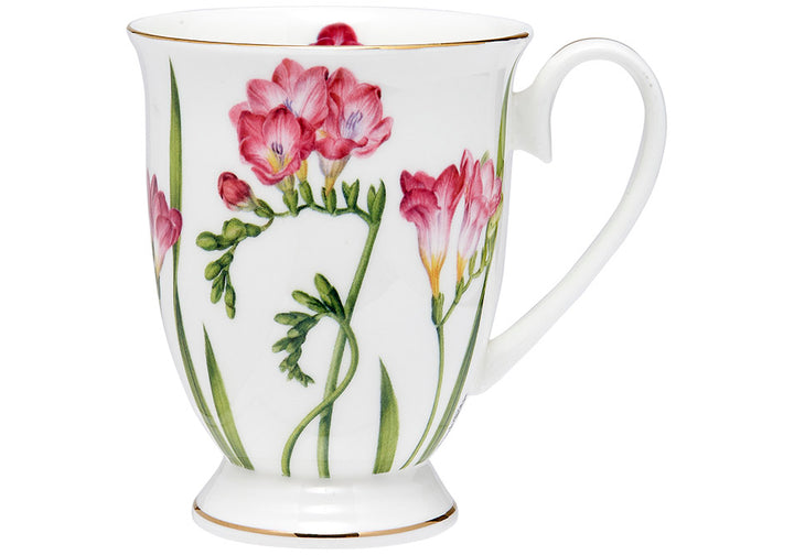 Floral Symphony Freesia Footed Mug - Hansel and Gretel Coffee House