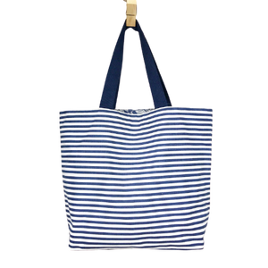 Navy Striped Tote Bag