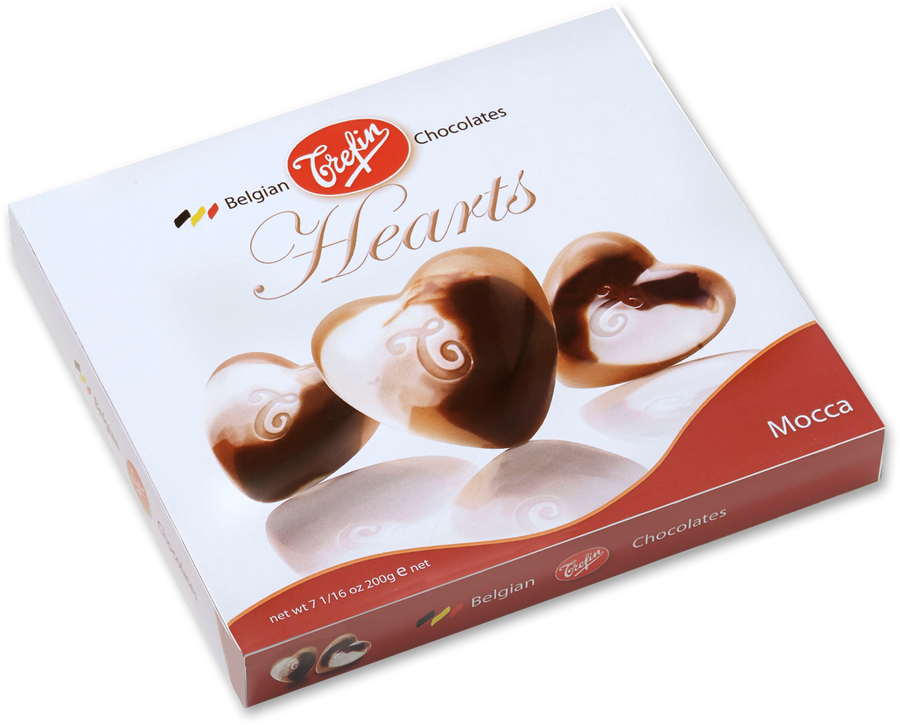 Trefin - Milk Chocolate Hearts With Coffee Cream (200g)