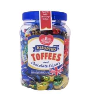 Walkers | Assorted Toffees & Chocolate Eclairs Jar, 450g - Hansel and Gretel Coffee House